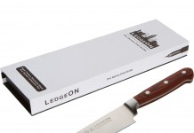 "Review LedgeON 8"" Professional Chef Knife - Pro Series - High Carbon Stainless Steel Blade - Wood Handle"