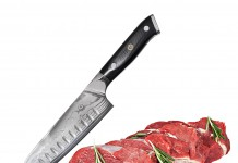 "Bruntmor, Tokuso Series VG10 7"" Santoku Knife Super Steel 67 Layer High Carbon Damascus Stainless Steel - Razor Sharp, Superb Edge Retention, Non-Stick Stain & Corrosion Resistant! Gift Box Packaging!"