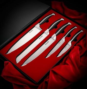 Knife Set, Bluesim Stainless Steel Kitchen Knife Set, 5-piece