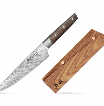 Cangshan R Series 62717 Japan VG-10 Forged Chef Knife with Ashwood Sheath, 8-Inch