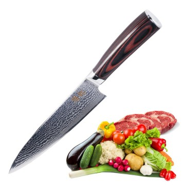 Chefs Knife 8 inch-Japanese VG10 Super Steel 67 Layers High Carbon Stainless Steel Damascus Blade Professional Gyutou Kitchen Knife