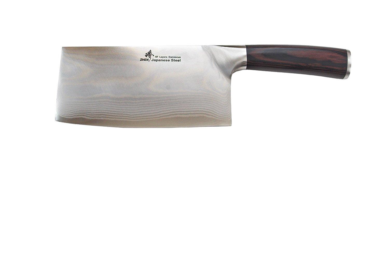 review zhen japanese vg 10 67 layers damascus steel light slicer chopping chef butcher knife 6 5. Black Bedroom Furniture Sets. Home Design Ideas