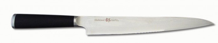 Miyako Japanese 33 Layers Damascus Steel Yanagiba Knife, 9.25-In, With Wooden Handle: Chefs' Best And Favourite Knife