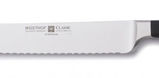 Wusthof 9 Inch Double Serrated Bread Knife Classic, Black