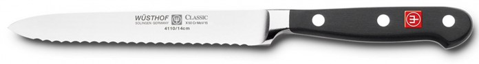 Wusthof Classic 4110 Serrated Utility Knife (Sausage knife ) 14 cm 5