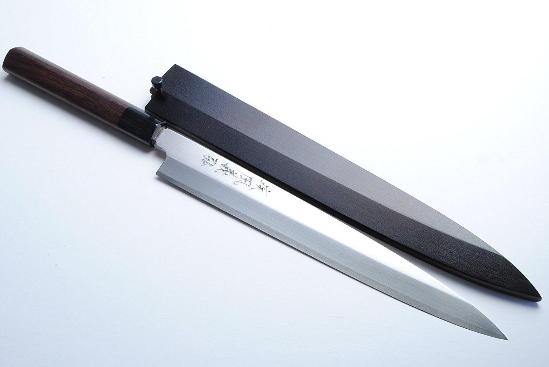 review yoshihiro vgya240sh stainless hongasumi yanagi sushi sashimi japanese chef knife 9 5. Black Bedroom Furniture Sets. Home Design Ideas