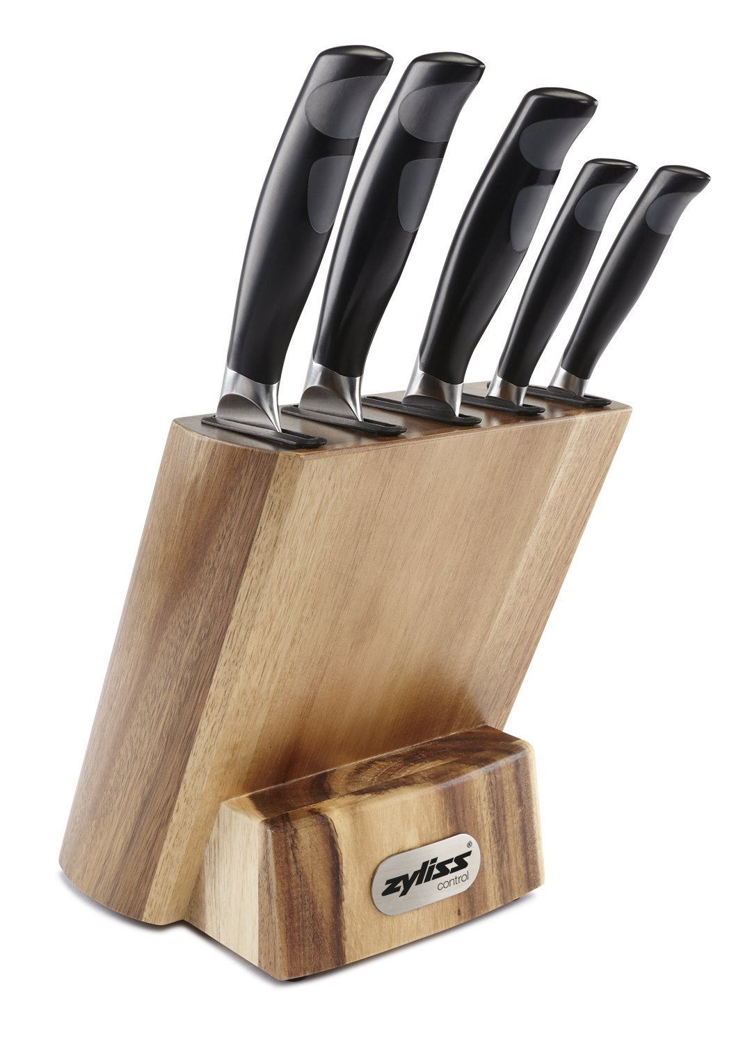 review zyliss kitchen knife set with block professional cutlery knives premium german